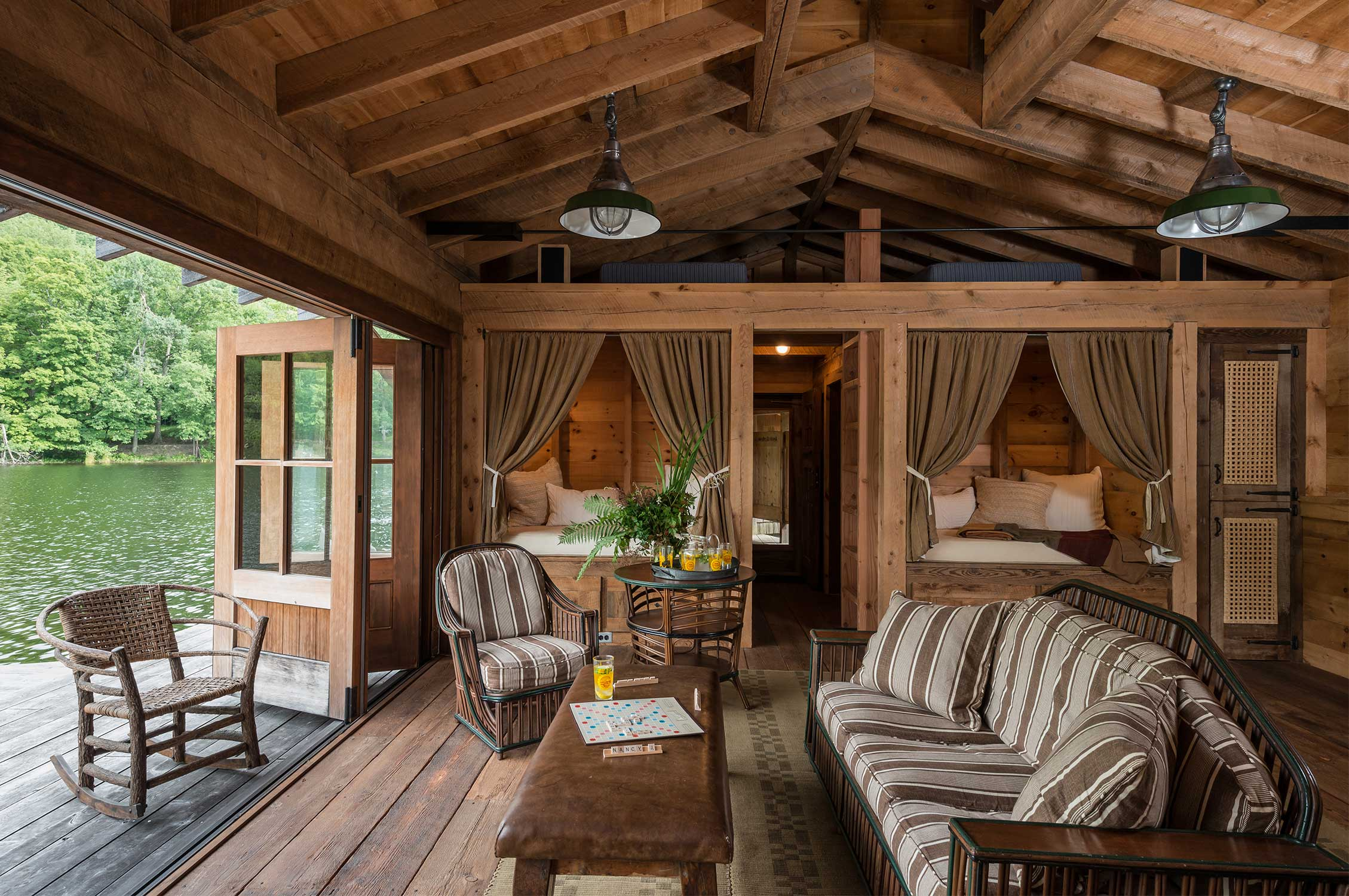 Pearson design group upstate lake camp for Upstate new york cabin