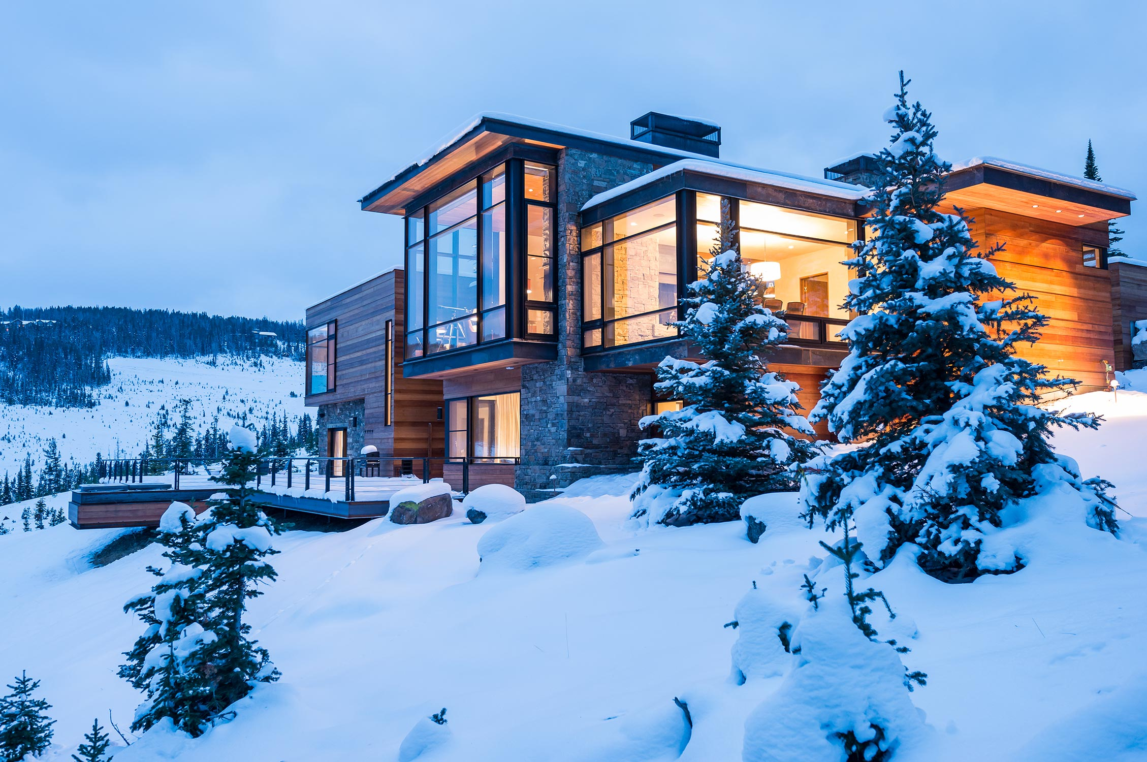 Modern House On Mountain